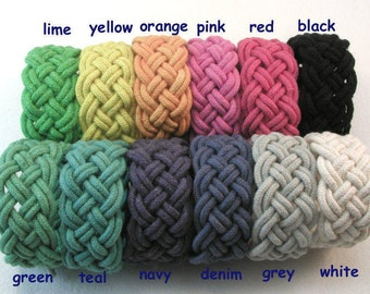 cotton rope bracelet kit nautical knot bracelet five part turks head bracelet colorful cotton cord bracelet