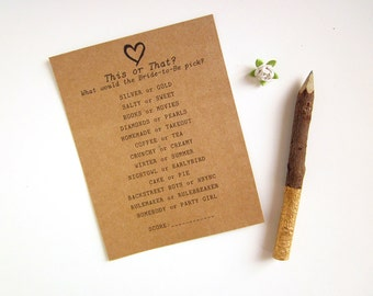 How Well Do You Know the Bride Game - Bridal Shower Games - This or That Game - Fun Bridal Shower Game Ideas - Custom Bride to Be Games