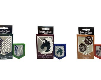 Attack on Titan Set of 3 Soaps - Scout, Military Police, and Garrison Regiments
