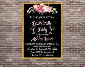Bachelorette Party Invitation,Bachelorette Invite,DIY Printable Invitation, YOU PRINT, Party Invitation, Personalized Bachelorette Invite