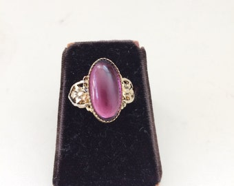 Art Deco ring / vintage art deco ring / Sugar Plum Ring