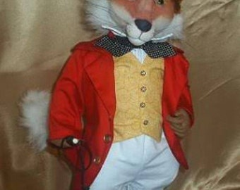 Fox Hunting cloth doll