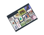 Farm Animal Postage Stamps   horse, cow, sheep, goat, pig - used world postal stamps   paper ephemera - craft, collage, upcycling, decoupage