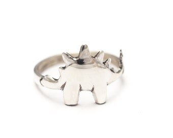 Stegosaurus Rings! Treat Yourself to a Dinosaur Ring in Silver, Brass, or Gold!