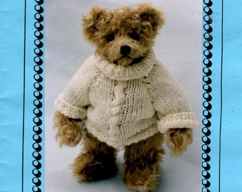 Stuffed Bear Pattern - Sebastian 10 Inch Teddy Bear -  Bear Doll Making Pattern - Jointed Bear Pattern - Pam Holton Designs