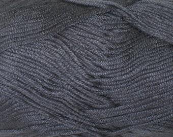 Bamboo yarn, cotton yarn, vegan, gray, grafit gray, DK weight, light worsted, yarn for knitting, crochet, amigurumi yarn, soft yarn