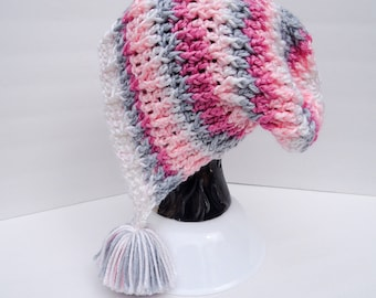 Slouchy Snow Bunny Beanie, Slouchy Vines Hat, Soft Essentials Pixie Stripe