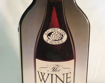 Vintage wine book recipes tips and advice man cave James Wagenvoord bottle shape
