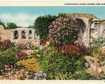 Vintage California Postcard - Mission San Juan Capistrano (Unused)