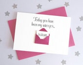 Days You've Been My Sister Mini Envelope Card – Personalised sister Card – Card for sister – birthday card for sister – Christmas card