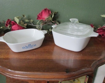 Corning Ware Individual Dishes Cornflower Blue Petite Pan with 1 Lid