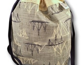 Sailboats - One Skein Project Bag for Knitting, Crochet, Embroidery or other Needlework