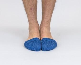 Hand knitted wool TOE-STIES by Ramune Toleikyte  in Earl / navy blue