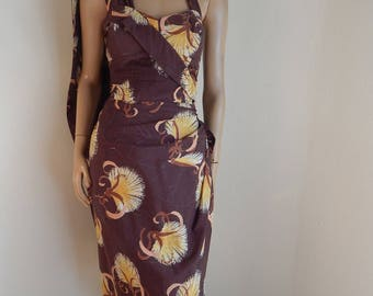 alfred Shaheen Sarong dress, hawaiian dress, vintage hawaiian