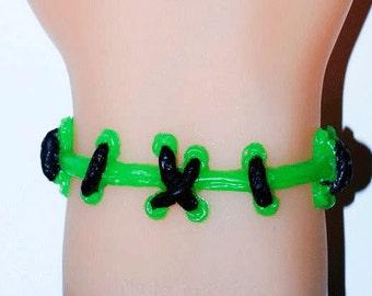 The Original VonEricksonBrite Monster Green  Stitch bracelet