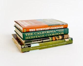 REDUCED Vintage 1970s Cookbook Set / Favorite Recipes America's East West - California Heritage, Four Seasons Hotel, Williamsburg, Newport