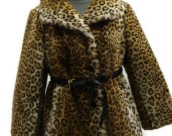 Vintage Leopard Print Faux Fur Coat Vintage Faux Fur Coat Vintage Coats For Women Faux Fur Vintage Coat