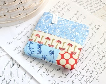 Coin Purse Red White and Blue Change Purse Patchwork Gift Card Holder Back to School Students