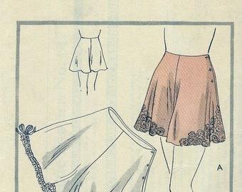 """1930s  Vogue Pattern 8177 -- GLAMOROUS  """"Easy to Make"""" Circular Pantie * Tap Panties w/ Lace *   Waist Size 27"""