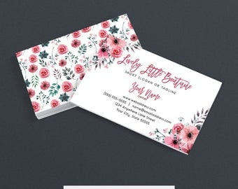 SALE 35% OFF Business Card Designs - Floral Business Card - Floral 418-17