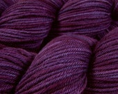 Hand Dyed Yarn - Worsted Weight Superwash Merino Wool Yarn - Blackberry Tonal - Hand Knitting Yarn, Worsted Yarn, Purple Yarn, DIY Gift