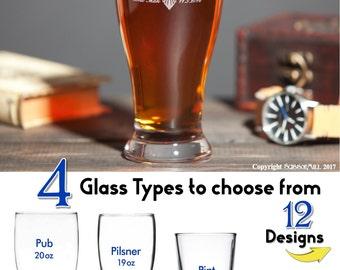 Groomsmen Beer Glass, Etched Beer Mug, Groomsmen Beer Mugs, Whiskey Glasses, Old Fashioned Glass, Set of 2, Will you be my Best Man