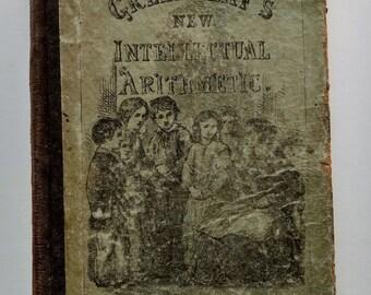 1869 Arithmetic Antique School Book