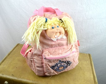 Vintage 80s 1980s Distressed Cabbage Patch Kids Backpack