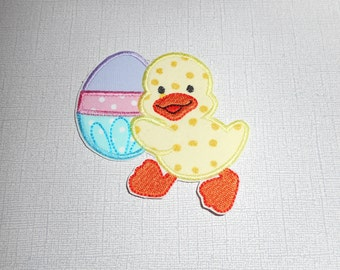 Easter Duck  ready to ship free shipping Machine Embroidery Iron on applique