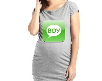 iPhone App SMS Boy. Funny Maternity. DIY. Make Your Own. Apply To Any Shirt. Digital file. Instant Download.