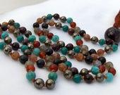 Gemstone Mala, Amazonite Mala, Carnelian Mala, Garnet Mala, Moonstone Mala, Labradorite Mala, Pyrite Mala, Prayer Beads, Japa Mala