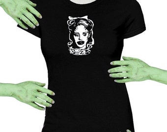 Voodoo Sugar Fido Zombie Tammy Black Missy Fit t-shirt Plus Sizes Available