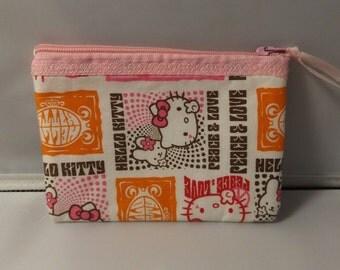 Hello Kitty  Fabric  Coin Purse-Handmade  Sanrio