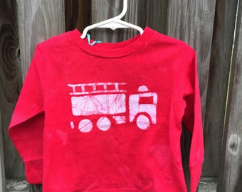 Fire Truck Shirt, Red Fire Truck Shirt, Fire Engine Shirt, Red Truck Shirt, Boys Fire Truck Shirt, Girls Fire Truck Shirt (2T)