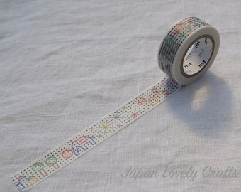 Kawaii Building Block, Japanese Washi Paper Masking Tape, mt for kids, Adhesive Deco Tape, Card Decoration, Journal Tape, Planner Supply