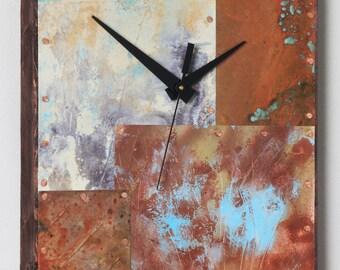 14 x 10 inch Copper Clock