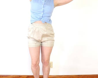 High waisted shorts 1950s