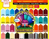 """5 sheets 12""""x12"""" Heat Press thermal transfer vinyl,  Shirt Vinyl, Thermoflex Plus   You can pick any five colors"""