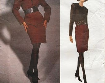 Vogue 2984 / Vintage Designer sewing Pattern By Geoffrey Beene / Dress And Jacket / Sizes 14 16 18