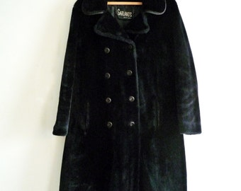 70s Double Breasted BORG Fake Fur Faux Fur Coat GARLANDS Styled by Russell Taylor