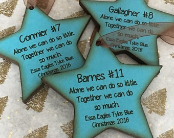 Personalized Sports Ornament With Name - Hockey-Baseball- Soccer- Volleyball - Basketball Ornament with Name