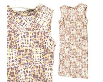 60s Sheath Dress * Vintage 1960s Dress * Atomic Wiggle Dress * Medium / Large