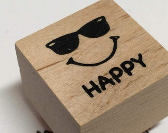 Mini Smiley Face Stamp,Sunny Day Happy DIY Stamp,Happy Teacher Smiley Face DIY Gift Idea,Sunshine Stamp,Cartoon Face Stamp,Sunglasses Stamp