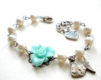 Under The Sea Baby Shower Gift Girl Fish Bracelet Ocean Theme Baby Shower Birthday Gift Girl Turquoise Bracelet Ocean Wedding Jewelry