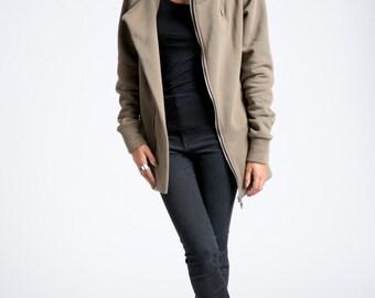 NEW Black Sweatshirt / Oversize Hoody Sweatshirt / Zipper Sweatshirt /Hoodie / Oversize Designer Sweatshirt / marcellamoda - MC783