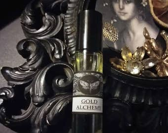 Gold Alchemy Natural Perfume Oil 1/3 oz rollon Beeswax,Agarwood,Immortelle,Tobacco,Carrot,Jasmine,Citrus,Cedarwood,Lavender,Ambrette