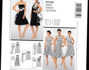 Burda Style 7352 Halter Wrap Dress