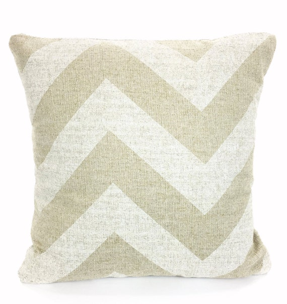 Oversized White Decorative Pillows : Large Chevron Tan White Pillow Cover Decorative Throw