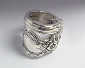 Spoon Ring, Heritage 1953, Wrap, Vintage Silverplate, Choose Your Size 4 to 12
