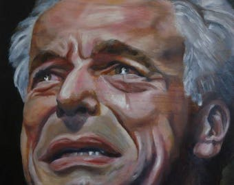 TWIN PEAKS oil painting - Leland Palmer Crying - Huge - local pick up only in NYC